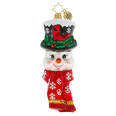 [NEW Christopher Radko A SNOWMAN WORTH FLOCKING TO Christmas Ornament 1020178</Title]