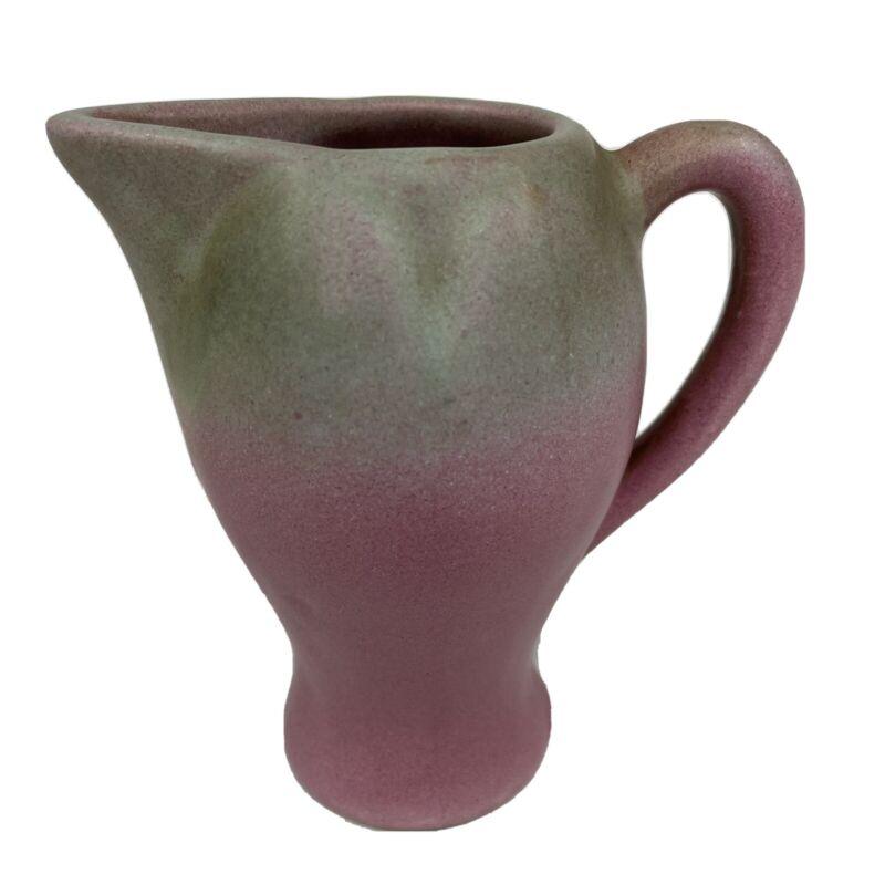 """Vintage Niloak Art Pottery Ozark Dawn Pitcher Creamer 5"""" Excellent Mauve"""