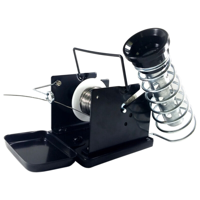 Soldering Iron Stand with Solder Feeder (solder not included)