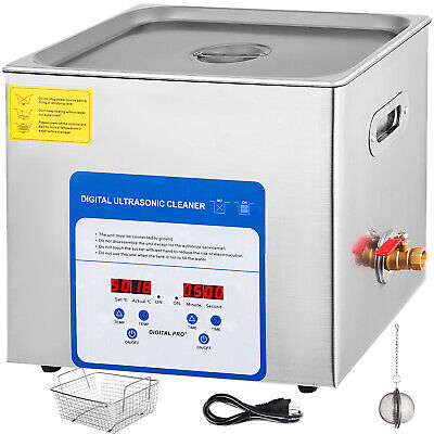 10l Ultrasonic Cleaner With Heater Timer Dentures Commercial Solution Good