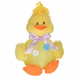 23cm Light Up Fluffy Yellow Flashing Chick Spring Easter Decoration Decor New