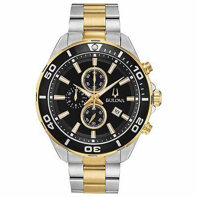 Bulova Men's Quartz Chronograph Two-Tone Date Indicator 44mm Watch 98B342