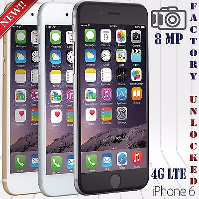 Apple Iphone 6 (16 / 64 / 128 GB) FACTORY UNLOCKED PHONE LTE HD US SPECKS