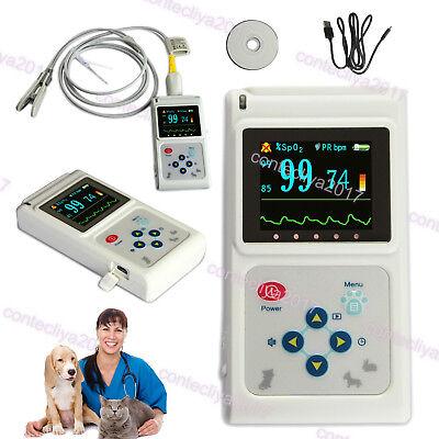 Us Seller Vet Hand-held Pulse Oximeter Spo2 Monitorveterinary Usepc Software