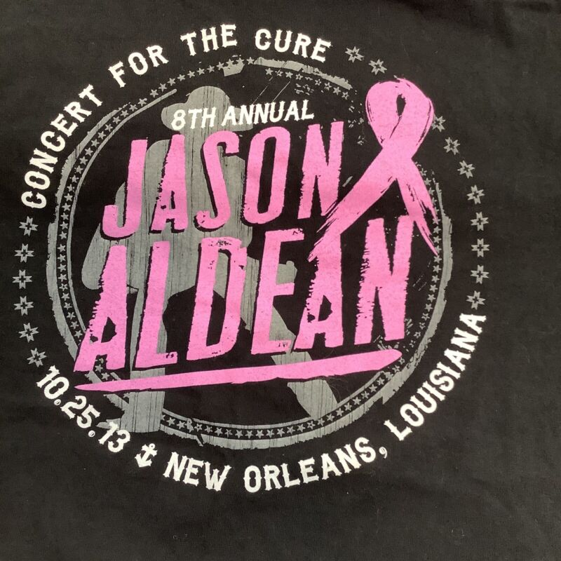 Jason Aldean Concert T Shirt 2xl New Orleans For The Cure '13 Front Back Graphic