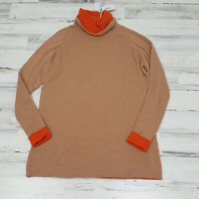 $725 Malo Firenze Women Oversized Turtleneck Sweater Cashmere New Small