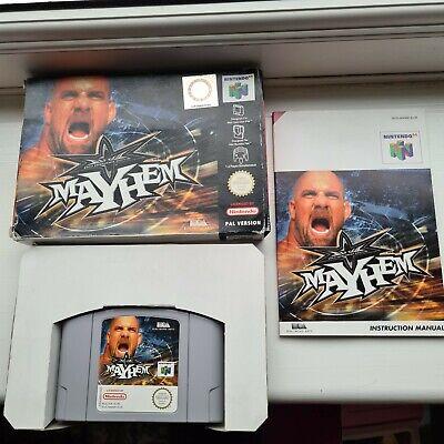 Mayhem Wrestling WCW N64 Nintendo 64 Pal Game Cart collectors boxed complete CIB