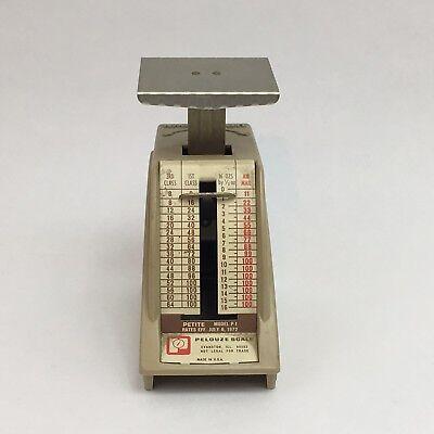 Vintage Postal Scale Pelouze Petite Model P-1 Rates Effective July 1972