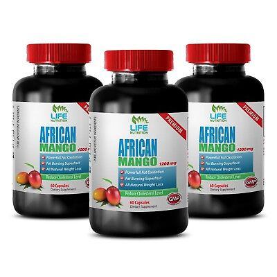 Appetite Control - African Mango Lean 1200 - Increase Fat Oxidation Pills 3B