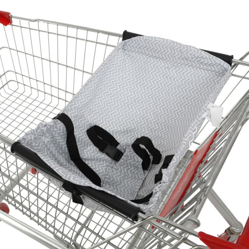 New Baby Supermarket Shopping Cart Hammock Chair Portable Bag Grey stripes