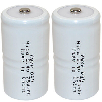 2-pack 2.4v Battery For Tif Series Combustible Gas Detector Meter Test Equipment