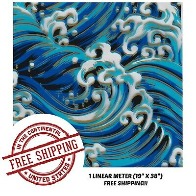 Hydrographic Film Water Transfer Hydro Dipping Dip Film 1m 19 X 38 Blue Waves