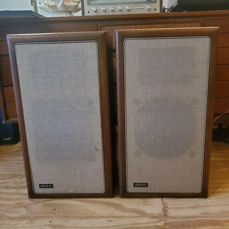 Pair of Vintage Advent Loudspeaker 2-Way Speakers Walnut Cab beautiful A3 RARE