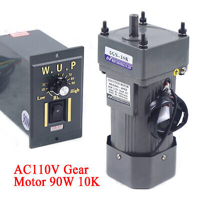 New 90w 110v Ac Gear Motor Electric Variable Speed Controller Torque 110 135rpm