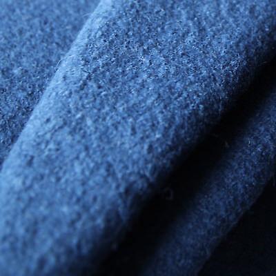 Kochwolle Walkloden 100 Wolle Trachten Jeans Dunkel Blau Marine Wollstoffe