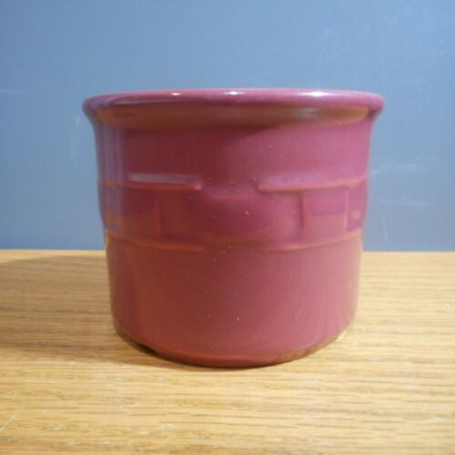 Longaberger Pottery Woven Traditions 1 Pint Paprika Salt Crock 30212