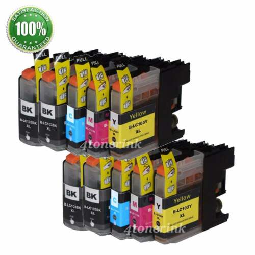 10 Pk LC103 XL Compatible Ink Cartridge For Brother DCP-
