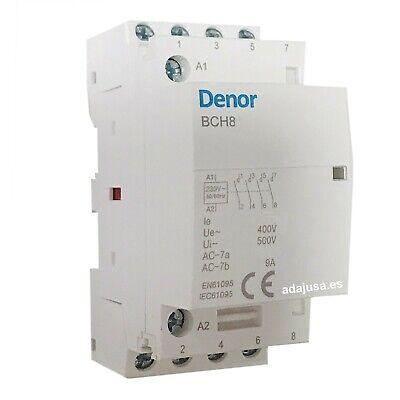 Contactor modular 25A 4 Polos 2NO+2NC 230Vac