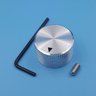 Silver Aluminum 25 X 15.5mm Rotary Control 6mm Dia Potentiometer Cap Knob
