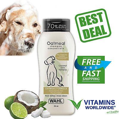 OATMEAL DOG SHAMPOO PET Dry Itching Irritated Skin Animal Health Supply 24 Oz
