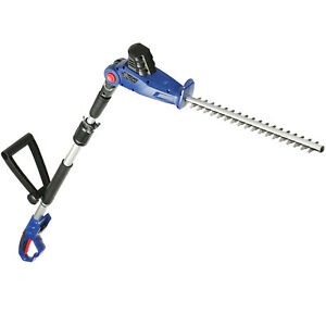24v Cordless Long Reach Hedge Trimmer Extension Pole & Adjustable Angle Head