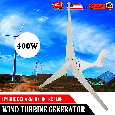 400W Hybrid Wind Turbine Generator Hybrid Charger Controller Home Power 12V -