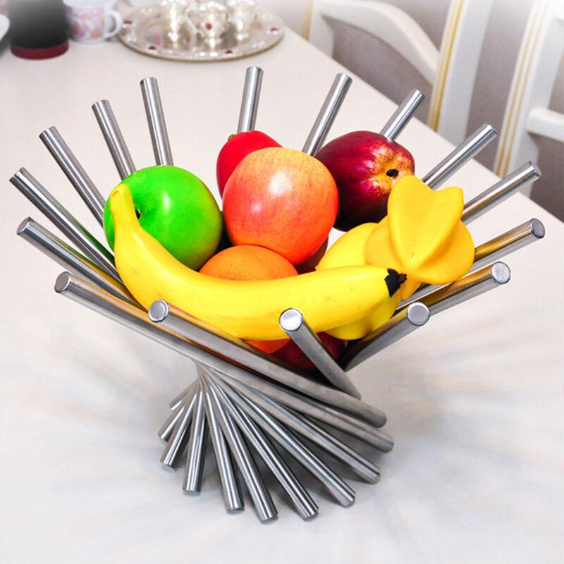 Collapsible Fruit Bowl Basket Spiral