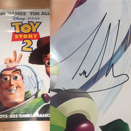* TIM ALLEN * signed full size 24x36 movie poster * TOY STORY 2 * BUZZ * COA * 1