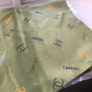 100% silk green scarf (made in China)