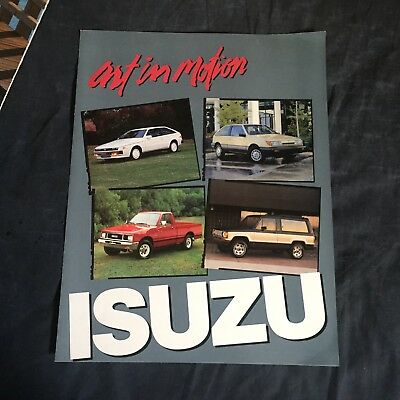 1987 Isuzu IMark Trooper Impulse P'up USA Market Brochure Prospekt