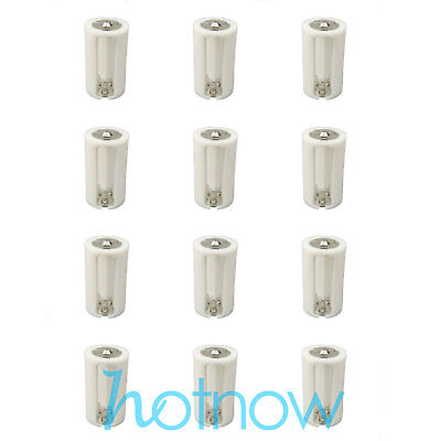 12 pcs Parallel Adapter Battery Holder Case Box Convertor 3 AA/LR6 to 1 D Size
