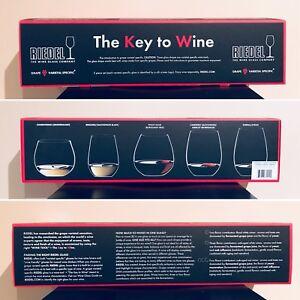 BNIB Riedel Stemless Crystal Wine Glasses