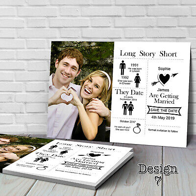 Save The Date Cards Wedding (Personalised Wedding Save the Date Cards with Envelopes)