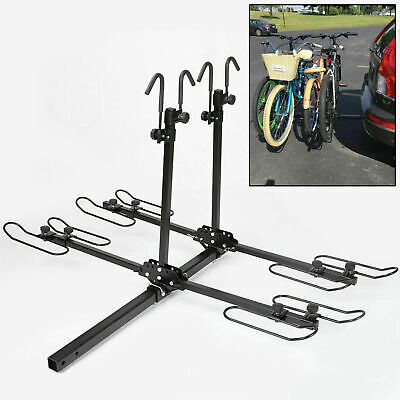 4 Bike Platform Style Bicycle Rider Hitch Mount Carrier Rack Sport Receiver