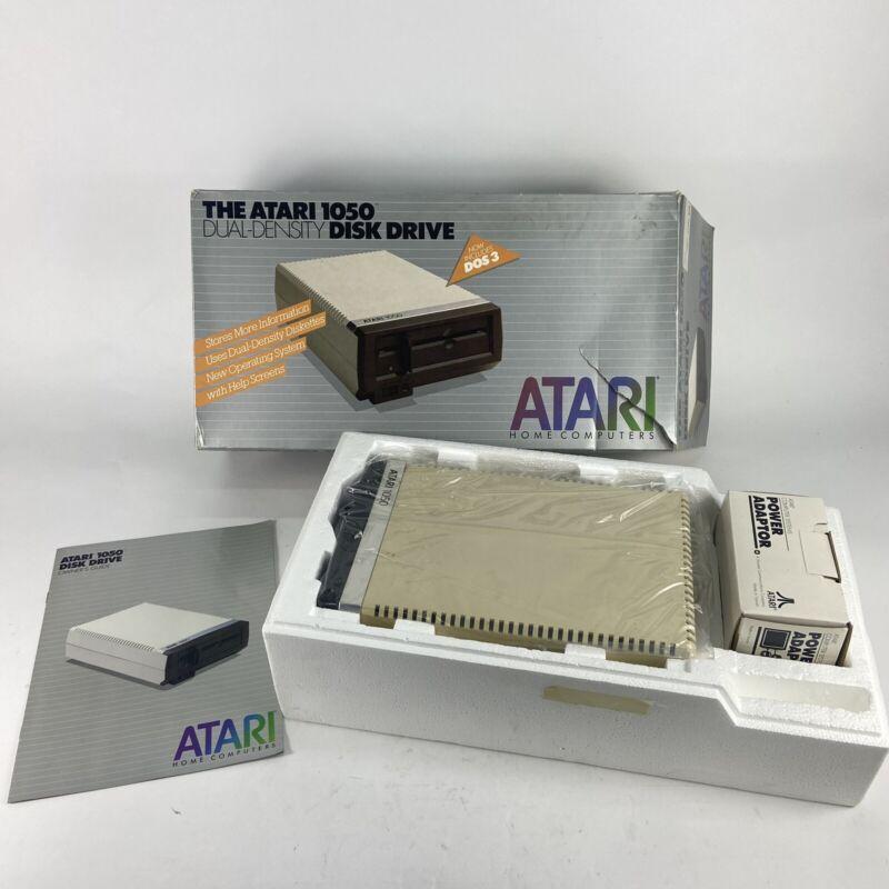 Atari 1050 Dual-Density disk drive, Original Box, W/ Power Supply