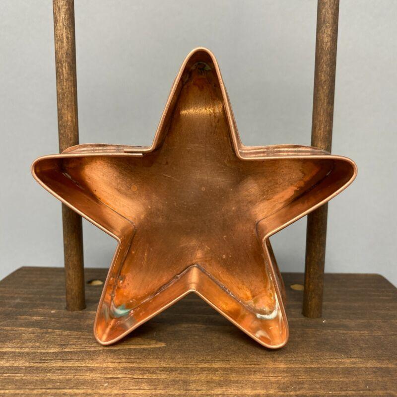 RARE Copper Cookie Cutter ~ Michael Bonne ~ Star