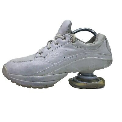 Z-Coil Legend White Leather Slip Resistant Pain Relief Comfort Shoes Womens 10