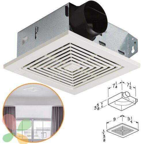 Bathroom Ceiling Ventilation Fan Air Vent Wall Mount Exhaust Toilet Bath White