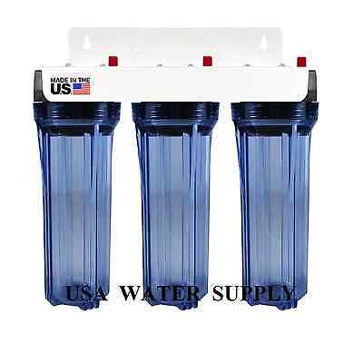 Water Filter Whole House 2.5in x 10in Three Stage Filtration System 3/4in Inlet