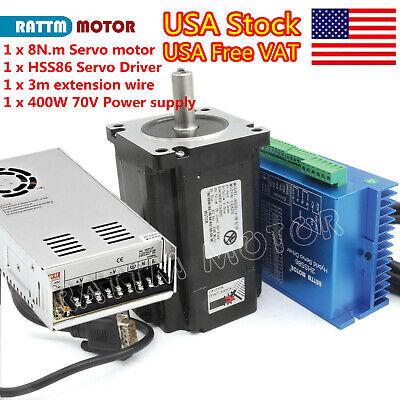 Usa 8n.m Nema34 Servo Closed Loop Stepper Motorhss86 Driver70v Power Supply
