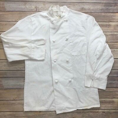 Chef Coat Double Breasted 8 Knot Button By Pst White Work Uniform 0411wh