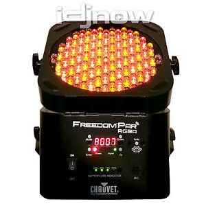 Chauvet Freedom Par RGBA Wireless Battery D-FI DMX Amber LED DJ Lighting SlimPAR
