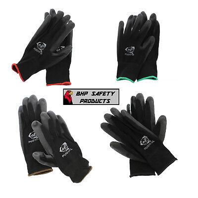 Polyurethane Coated General Purpose Nylon Work Gloves Pug17 Lightweight Xs-xxl