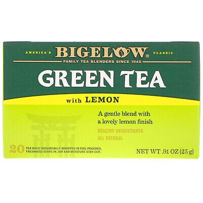 Bigelow, Green Tea with Lemon, 20 Tea Bags, 0.91 oz (25 g)