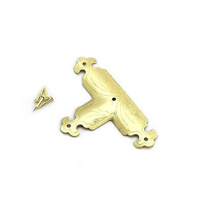 Decorative Corner Brace T Shape Antique Style - 85 x 52 mm - Solid Brass - AC007
