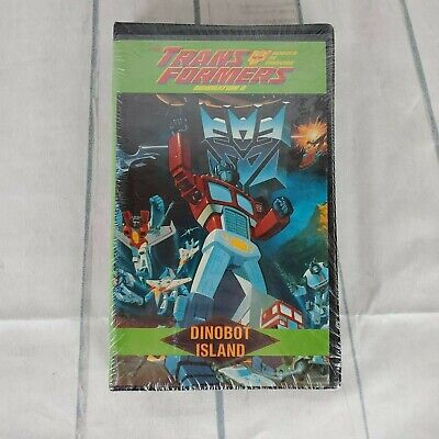 The Transformers Generation 2 VHS Movie New Old Stock Dinobot Island 1998