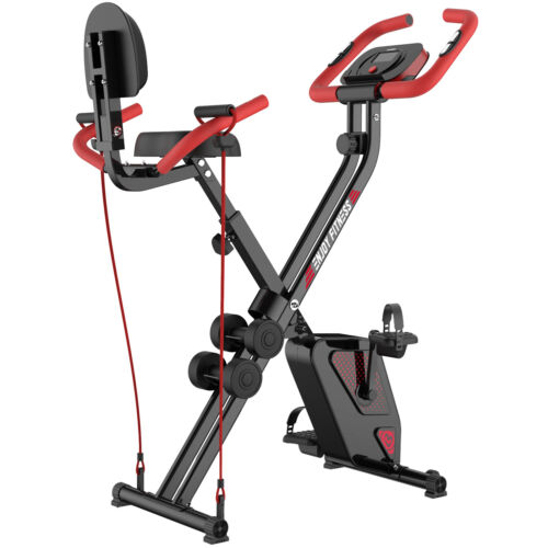 Folding Stationary Upright Indoor Resistance Cycling Exercise Bike Gym Workout