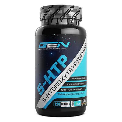 5-HTP 100 mg 120 Tabletten 100% Griffonia Samen Schlafqualität Serotonin Booster