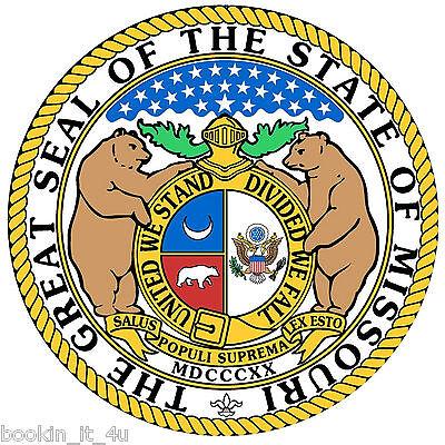 Missouri State Seal (***MISSOURI STATE SEAL VINYL  DECAL / STICKER****)