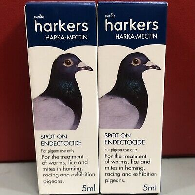 2 x Harkers Harka-Mectin Endectocide Treatment Pigeon Worms Parasites Mite Lice